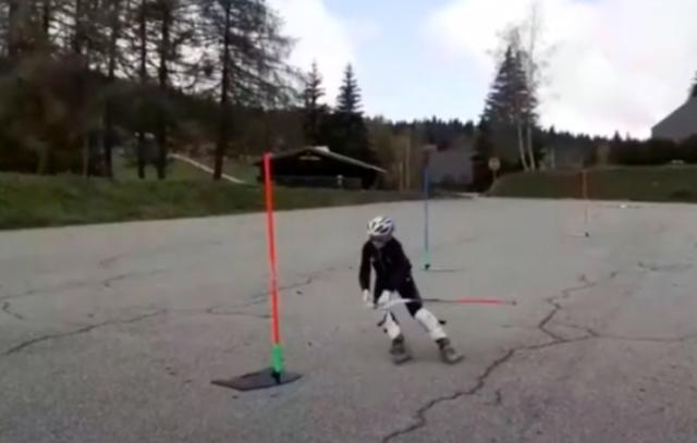 Prépa d'automne: Slalom roller en ligne!