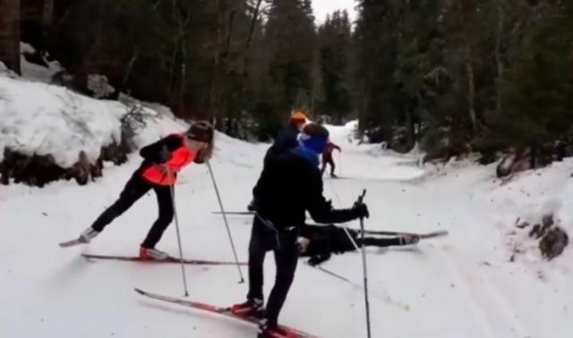 Ski de fond avec Alex